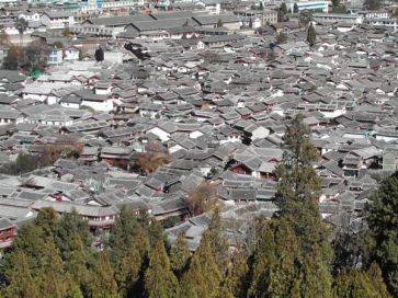 Urban sprawl – a view of old Lijian city in China. Photo: UN-HABITAT