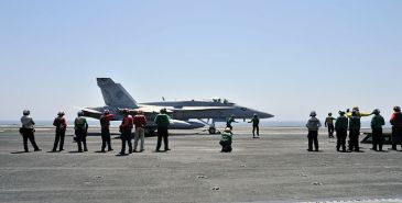 **Photo: An American F/A-18C Hornet aboard the USS George H.W. Bush prior to the launch of operations over Iraq | Author: U.S. Navy photo by Mass Communication Specialist 3rd Class Margaret Keith | Date: 7 August 2014 | Wikimedia Commons