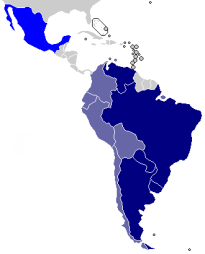 Southern Common Market (MERCOSUR) membership | Made and uploaded by Huhsunqu, based on CAN.png. | Wikimedia Commons