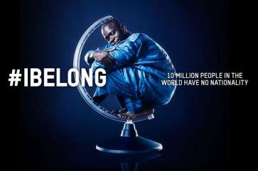 """© UNHCR One of the striking """"I Belong"""" campaign images created by United Colors of Benetton. 