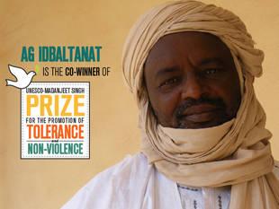 Ibrahim Ag Idbaltanat (Mali) - Co-winner of the UNESCO Madanjeet Singh Prize  Source: UNESCO