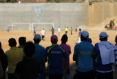 Migrant workers in Lebanon gathered for a day of cricket on the outskirts of Beirut | Source: ILO