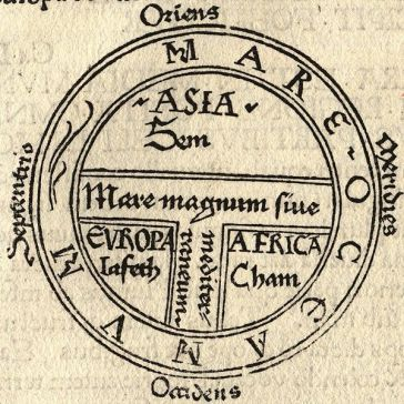 T and O style mappa mundi (map of the known world) from the first printed version of Isidorus' Etymologiae (Kraus 13). The book was written in 623 and first printed in 1472 at Augsburg by one Günther Zainer (Guntherus Ziner), Isidor's sketch thus becoming the oldest printed map of the occident.| Artist: Isidore of Seville | Wikimedia Commons