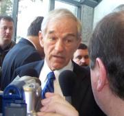 **Photo: Ron Paul being interviewed the day of the New Hampshire primary in Manchester | Author: Bbsrock | Wikimedia Commons.