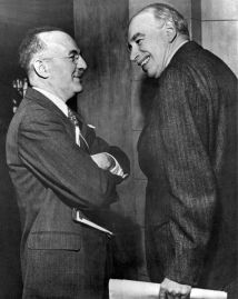 "**Image: Lord Keynes (right) and Harry Dexter White, the ""founding fathers"" of both the World Bank and the International Monetary Fund (IMF). 