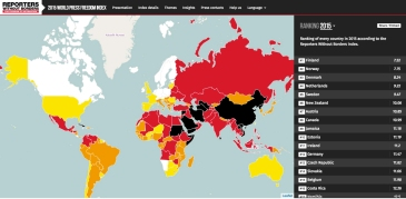2015 World Press Freedom Index | Reporters Without Borders