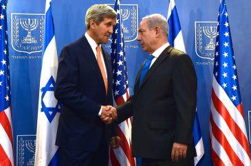 **Photo: U.S. Secretary of State John Kerry and Netanyahu, Jerusalem, 23 July 2014   Author: U.S. Department of State   Source: https://www.flickr.com/photos/statephotos/14723426751   Wikimedia Commons