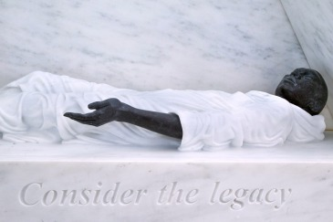 A close-up from the memorial on the legacy of slavery. UN Photo/Devra Berkowitz