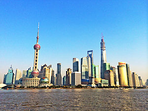 **Pudong in Shanghai in January 2014 | Author: Yhz1221 | Wikimedia Commons