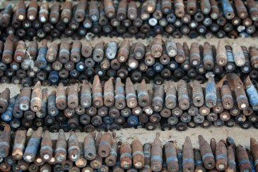 Weapons collected in Libya to prevent arms proliferation. Photo: Giovanni Diffidenti | Source: UN