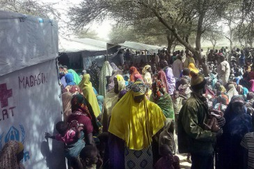 Nigerian refugees fleeing attacks by insurgents on Baga town and surrounding villages, wait to be registered by UNHCR in Ngouboua, western Chad. Photo: Chadian Red Cross/Hachim Abdoulaye | Source: UN