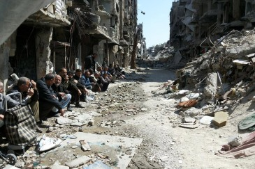 UNRWA extremely concerned about the safety and protection of Syrian and Palestinian civilians in the Palestinian refugee camp of Yarmouk in Damascus, Syria. Photo: UNRWA/Walla Masoud