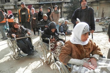UNRWA runs a health point in the besieged Yarmouk refugee camp when staff and supplies are allowed into the area. In the first three months of 2015, the agency provided 1,198 consultations on 13 days. Photo: UNRWA/Taghrid Mohammad