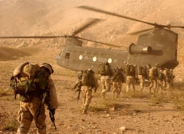 **US troops board a helicopter (Afghanistan) | U.S. Army photo by Staff Sgt. Kyle Davis | Wikimedia Commons