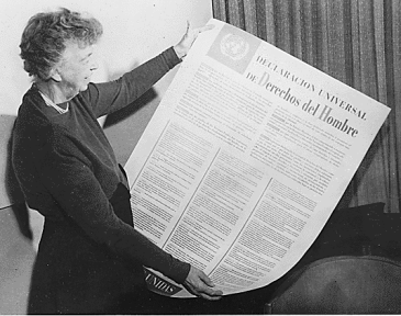 ***The Universal Declaration of Human Rights, 1948 | Franklin D Roosevelt Library website | Wikimedia Commons