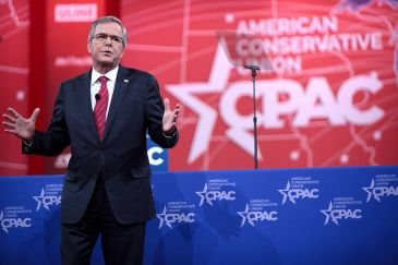 **Jeb Bush Jeb Bush speaking at the 2015 Conservative Political Action Conference (CPAC) in February 2015. | Author: Gage Skidmore | Wikimedia Commons