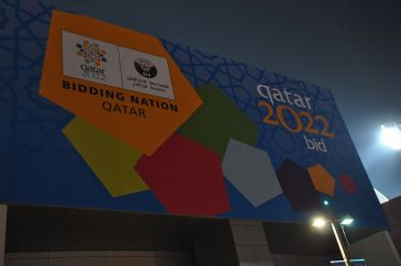 **Photo: Advertising board for Qatar's bid | Author: daly3d and | Wikimedia Commons