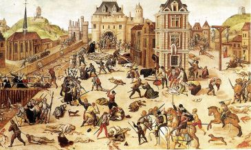 **Image: The St. Bartholomew's Day massacre of French Protestants, 1572 | Artist: François Dubois (1529–1584) Link back to Creator infobox template wikidata:Q369663| Wikimedia Commons