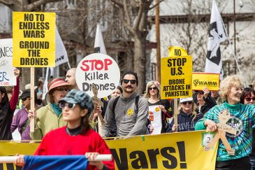 **Image: Minneapolis anti-war protest: 'Stop Killer Drones', 5 May 2013 | Author: Tony Webster from Portland, Oregon, United States | Wikimedia Commons