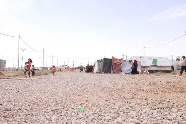 Baharka IDP camp for displaced Iraqis on the outskirts of Erbil, northern Iraq. Photo: © UNICEF/Philip Hazou