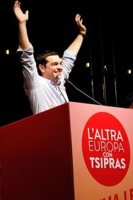 ***Tsipras in Bologna holding a speech for The Other Europe allied party. | Author: Lorenzo Gaudenzi | Wikimedia Commons