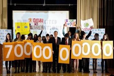 The world's population grew to seven billion in 2011. UN Photo/Eskinder Debebe