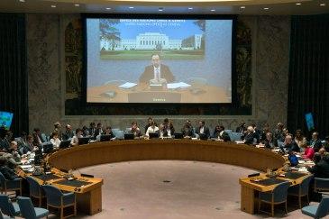 UN High Commissioner for Human Rights, Zeid Ra'ad Al Hussein, briefs the Security Council. UN Photo/Eskinder Debebe