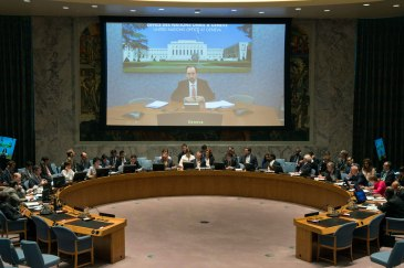 UN High Commissioner for Human Rights, Zeid Ra'ad Al Hussein, briefs the Security Council. UN Photo/Eskinder Debebe
