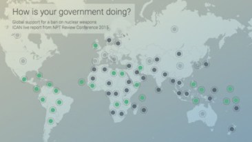 How's your government doing at the NPT RevCon? Follow along with this interactive map from ICAN Austria showing you the best (and worst!) of the NPT Review Conference | Source: ICAN