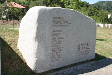 **Image: Srebrenica Genocide Memorial Stone at Potočari | The original uploader was The Dragon of Bosnia at English Wikipedia | Wikimedia Commons