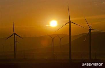 Japan to abandon nuclear plans and embrace renewable energy - who's next?   2011   Credit: Greenpeace