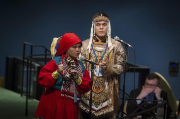 Opening of the fourteenth session of the UN Permanent Forum on Indigenous Issues (20 April 2015). UN Photo/Loey Felipe