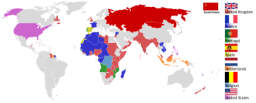 ****Map of colonial empires at the end of the Second World War, 1945 | AniRaptor2001 at en.wikipedia | Creative Commons Attribution-Share Alike 3.0 Unported license. | Wikimedia Commons