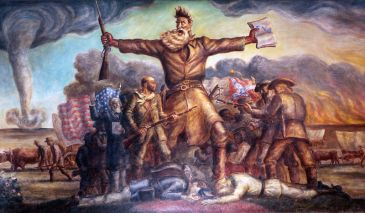 *******Tragic Prelude by John Steuart Curry, illustrating John Brown and the clash of forces in Bleeding Kansas | Author: Utopies | Wikimedia Commons