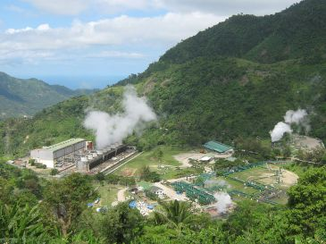 Geothermal power station in the Philippines