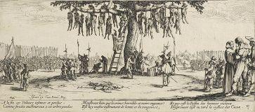 ***Les Grandes Misères de la guerre depict the destruction unleashed on civilians during the Thirty Years' War. | The miseries of war; No. 11,