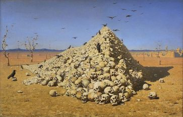***The Apotheosis of War (1871) by Vasily Vereshchagin | Tretyakov Gallery, Moscow Link back to Institution infobox template wikidata:Q183334 | Wikimedia Commons