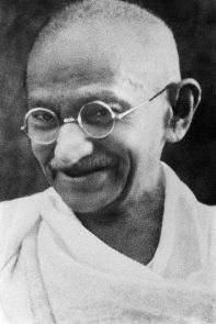 **Photo: Mohandas K. Gandhi | Author: Unknown| public domain in India | public domain in US | Source: http://flickr.com/photos/55638925@N00/255569844/ | Wikimedia Commons.