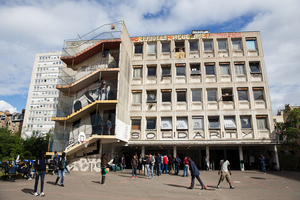 Asylum-seekers first started coming to this disused hotel school in Paris...