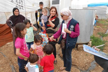 WHO responds to health challenges facing people trapped on Iraq's Mount Sinjar. Photo: WHO Iraq