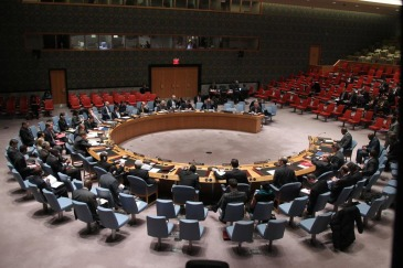 A wide view of the Security Council in session. UN Photo/Devra Berkowitz (file)