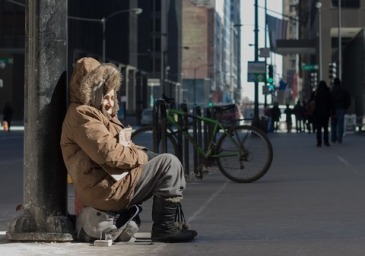 A+homeless+woman+in+Chicago—the+number+of+unsheltered+people+with+chronic+patterns+of+homelessness+increased+in+the+past+year+for+the+first+time+since+2011