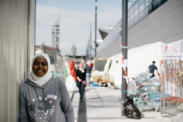 Monika is one of the Volunteers at Vienna's Hauptbahnhof (main train station) She is fulfilling mainly coordinating duties.
