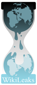 **The logo of WikiLeaks, an hourglass with one globe leaking to the second | Author: Wikileaks , Nowikileaks | Creative Commons Attribution-Share Alike 3.0 Unported license. | Wikimedia commons