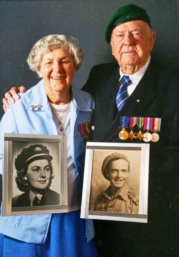 Beryl & James Burrowes 1942 & 2016-2