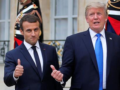 Emmanuel-Macron-and-Donald-Trump