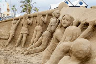 Sand Sculpture for Solar Paradise Project in Gran Canaria