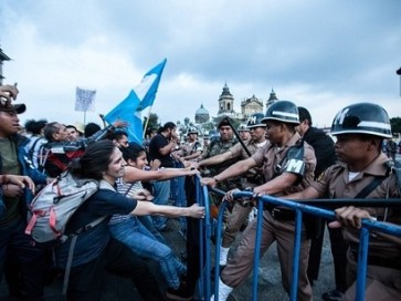 clashes-with-police-during-a-demonstration