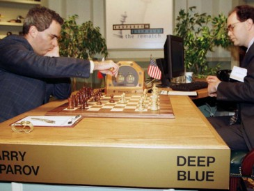 The-world-chess-champion-Kasparov-and-Deep-Blue