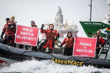 Greenpeace voyage to Bear Island to document its unique and pristine environment after Norwegian government grant four new licenses for drilling in the 23rd licensing round.